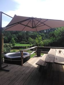 Photo for House in the Landes forest 4 km from the ocean with SERVICE SURF & SPA