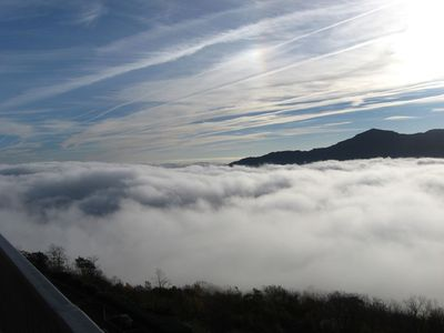 View from the balcony above the clouds!
