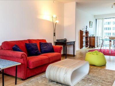 Photo for Spacious Froissart apartment in European Quarter with WiFi, private roof terrace & lift.