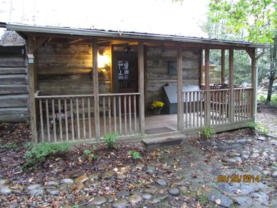 Front Porch, hot tub to the right