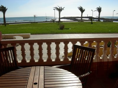 Photo for Cosy ground floor seafront apartment in Port Saplaya