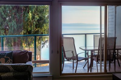Gentle breezes from the ocean fill our living room thru the main patio doors.