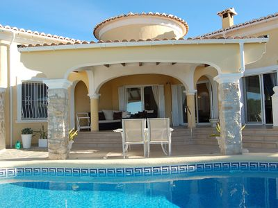 Photo for This 2-bedroom villa for up to 4 guests is located in Moraira and has a private swimming pool and Wi