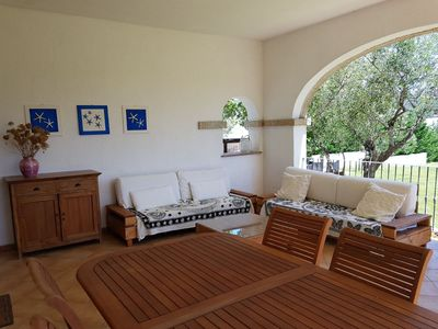 Photo for CANNIGIONE- APARTMENT WITH POOL IN VILLA FRONTE MARE