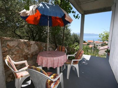 Photo for One bedroom apartment with terrace and sea view Podaca (Makarska)