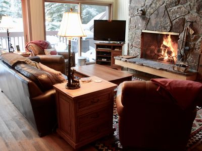 Photo for Slopeside Family Ski in, ,Wifi, Hot Tub, Pool, Yellowstone