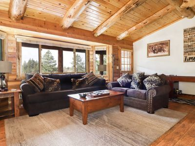 Photo for Bodet Chalet: Beautiful Mountain Cabin! Wonderful Views! Spa! Luxury!
