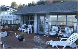 The deck is a great place to relax and take in the surroundings.