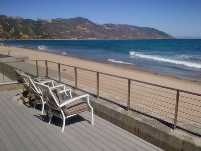 Photo for Oceanfront Gated Retreat On Faria Beach Between Ventura And Santa Barbara