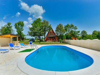 Photo for Lovely chalet with private pool, guesthouse, veranda with outstanding view!