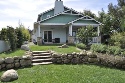 The back yard and Covered Patio are excellent for outdoor lifestyle.