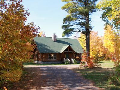 Photo for Mohawk Lodge, Custom Log Home in Heart of Keweenaw