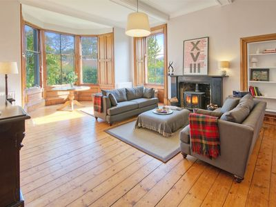 Photo for LOWER TWEEDKNOWE - Superb ground floor apartment in historic Melrose with garden
