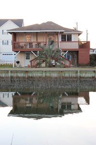 Photo for Channel House - Charming and family friendly traditional beach house on channel.