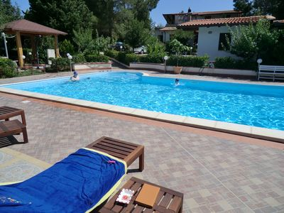 Photo for EMERALD  HOME,  SPECIAL PRICE  30 JULY,- 6 AUGUST, LAST MINUTE , has salt water POOL, NATURAL CHLORINE (NON-CHEMICAL), pine trees and clean blue Mediteranean Sea