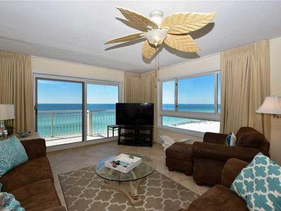 Photo for BEACHFRONT condo w/PANORAMIC views from a PRIVATE BALCONY! PRIVATE BEACH access!