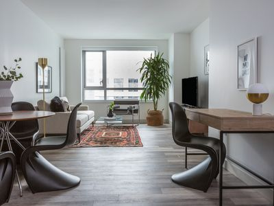 Photo for Sonder | 8th Apartments | Dramatic 1BR + Gym