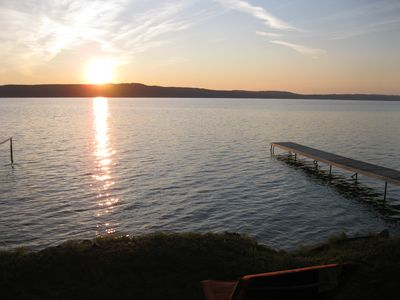 Photo for Crystal Lake Retreat -- sits directly on the lake!