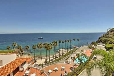 Stop to take in panoramic views of this island oasis!