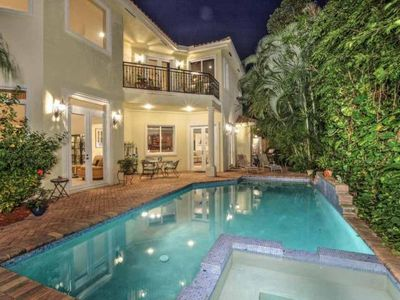 Photo for Private Villa w/Heated Pool & Jacuzzi  WALK TO BEACH