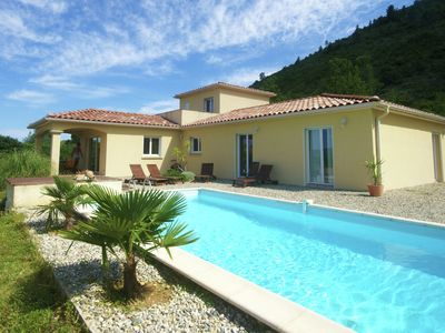 Photo for Beautifully located villa with delightful private swimming pool and lovely view
