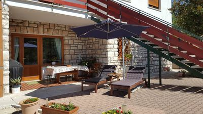 1st Apartment with private terrace, complete with barbecue and sun chairs
