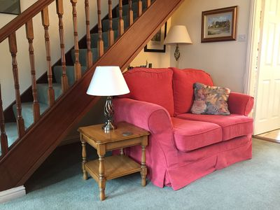 One Of Two Loveseats in Sitting Room