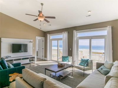 Photo for SUNSHINE DAYDREAMS: 5BR/3.5BA oceanfront in Topsail Beach, Sleeps 14, Elevator