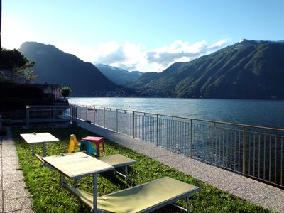 Photo for Bellagio Villas - Nabucco with garden directly on the Lake