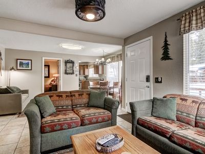 Photo for Two Master Bedrooms with flat screen TVs, WiFi, Hot Tub, Washer and Dryer