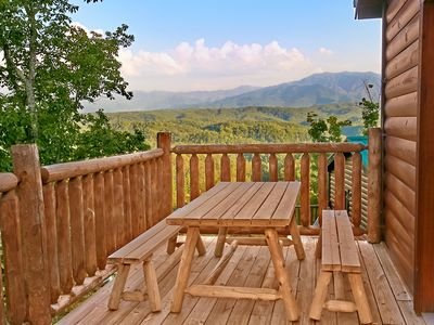 Photo for 3 BR, Pet Friendly Luxury Cabin with Breathtaking Views and Home Theater Room
