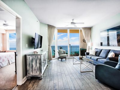 Photo for AQUA 1909 Beachfront/No contact check in-out/High Clean Standard/Beach Chairs