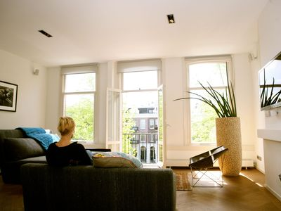 Photo for Luxury canal apartment with panoramic rooftop terrace in Amsterdam city center
