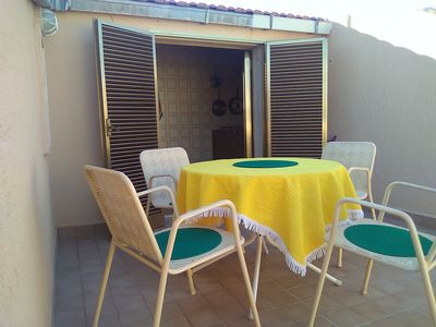 Photo for Аttic with terrace,10 minutes walk to the beach.