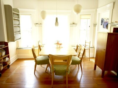 Dining room- table seats 12