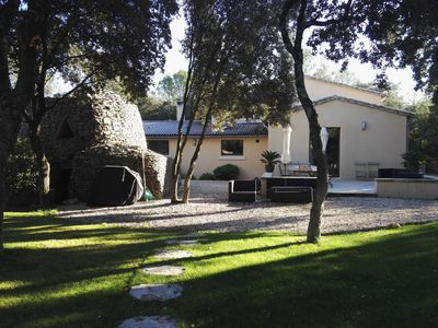 Photo for Mas in nature (garden 4500m2) with large pool 3km from Uzes