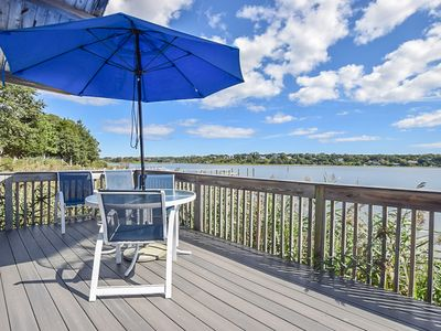 Photo for #418: Waterfront; inspiring view; raised deck and living area 'above' the water!