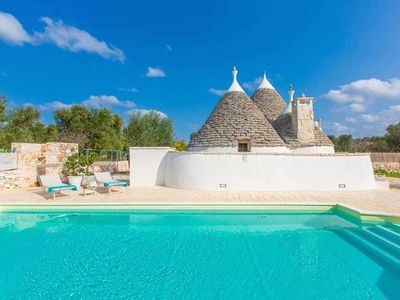 Photo for Trullo Mandarino - Private Pool - Fenced Garden - Privacy - Wifi - BBq