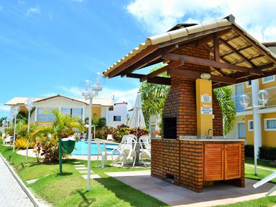 Photo for Cozy Ground Floor Apartment in Residential with Pool - on Taperapuan Beach