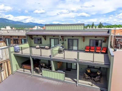 Photo for New 2017 Build! 2BR unit in Downtown Whitefish! 35 min to Glacier Nat'l Park!