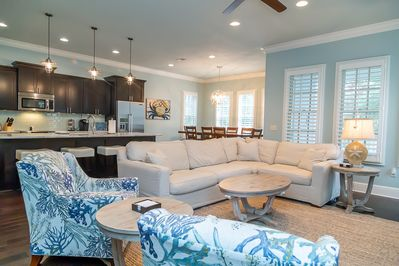 Open floor plan perfect for family gatherings