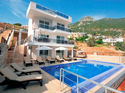 Photo for Villa Mavi Deniz means Blue Sea in Turkish and is a brand new luxury villa in Kalkan built in a very