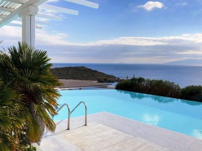 Photo for Amazing luxury villa in Mykonos with private pool and sea view