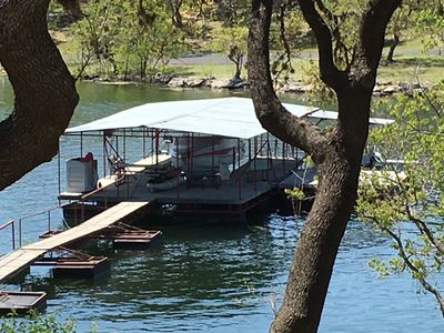 Photo for LAKE FRONT HOME W PRIVATE BOAT DOCK LOCATED A FIVE MINUTE BOAT RIDE TO LAKEWAY
