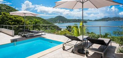 Villa Heloa  -  Ocean View - Located in  Wonderful Pointe Milou with Private Pool