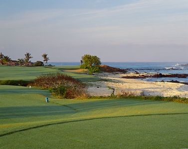 The Nicklaus-designed course is set within vistas of white-sand beaches and the