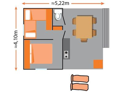 Photo for Camping Le Vieux Port ***** - 3-room log cabin 4/5 people