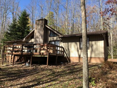 Photo for Mountain Treat - Private & Spacious! Outdoor Hot Tub! Lake Privileges!