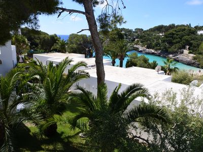 Photo for Bungalow overlooking the beach of Cala Gran, very central, AC and WIFI