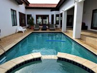 Lovely big house, with lots of space and a great pool.